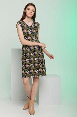 4funky flavours jurk walking into sunshine olijf