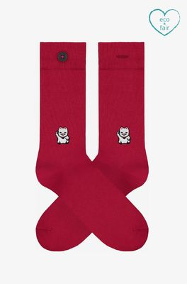 A-dam sokken loek rood