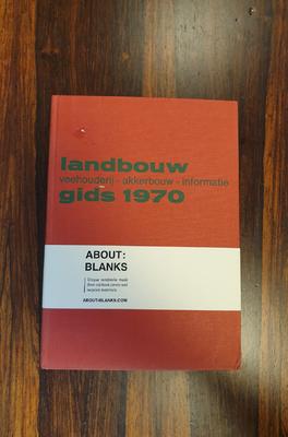 About Blanks Notitieboek Landbouw Gids