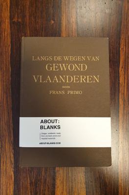 About Blanks Notitieboek Langs De Wegen Van Gewond Vlaanderen