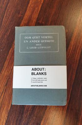 About Blanks Notitieboek Oom Gerrit vertel en andere gedigte