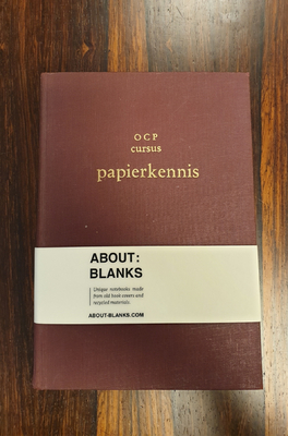 About Blanks Notitieboek Papierkennis