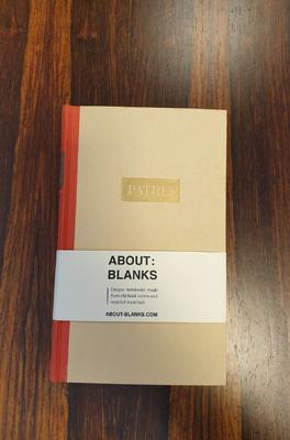 About Blanks Notitieboek Patria Dun