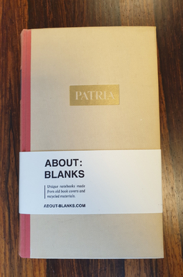 About Blanks Notitieboek Patria