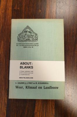 About Blanks Notitieboek Weer Klimaat en Landbouw