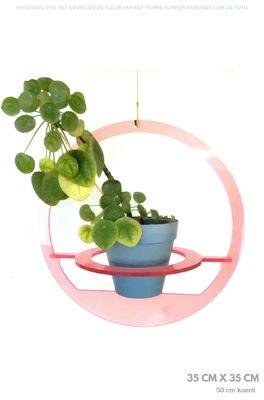 All things we like plantenhanger rond medium roze