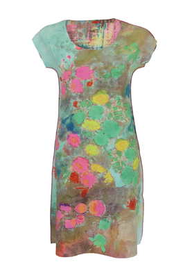 Anima Pop jurk kimono turbino roze