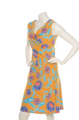Bakery Ladies jurk big flower amber