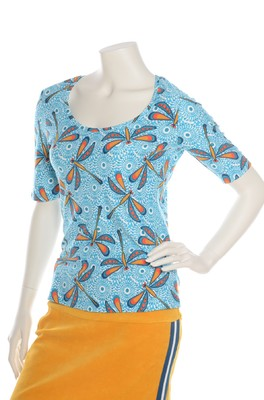 Bakery Ladies t shirt dragonfly pool