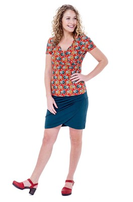Bakery Ladies top v neck overlap oranje