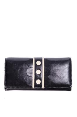 Banned portemonnee   zwart wit