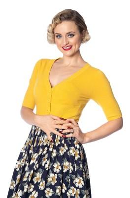 Banned vest overload cardigan geel