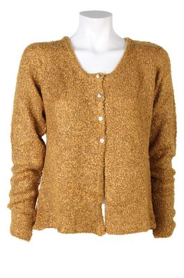 Bindi vest button cardigan oker