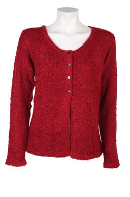 Bindi vest button cardigan rood