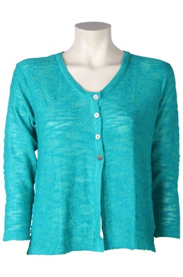 Bindi vest button slub groen