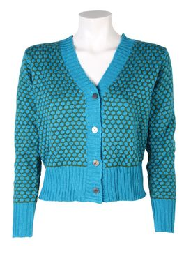 Bindi vest honey comb short turquoise