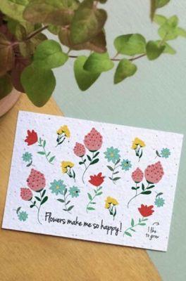 Bloom your message kaart flowers make me happy