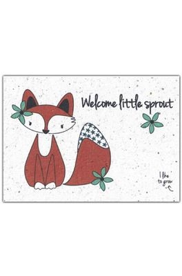 Bloom your message kaart fox little sprout