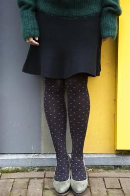 Bonnie Doon panty polka dot rood