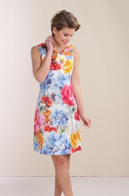 Comme Ça jurk caro multicolor