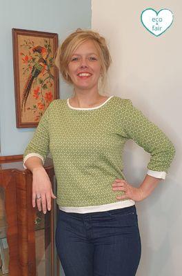 Costura trui hermine groen