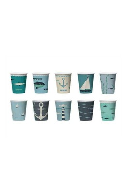 Cubic Ahoy Paper Cups Set of 24
