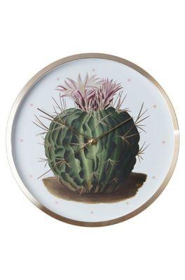 Cubic Botanical cactus clock