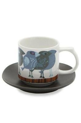 Cubic David Weidman blauwe vogels kop en schotel