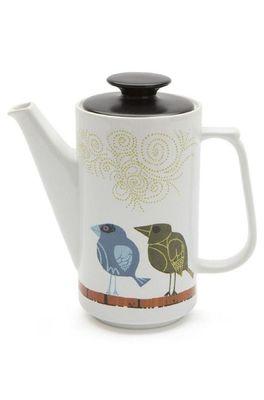 Cubic David Weidman vogelfamilie koffiepot