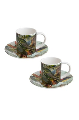 Cubic Haeckel Espresso set of 2 Birds