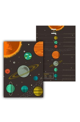 Cubic Planetaria Tea Towels 2