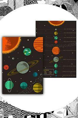 Cubic Set van 2 theedoeken met planetaria print