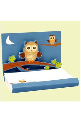 Up With Paper Popshots owls