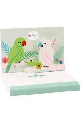 Up With Paper Popshots parrots