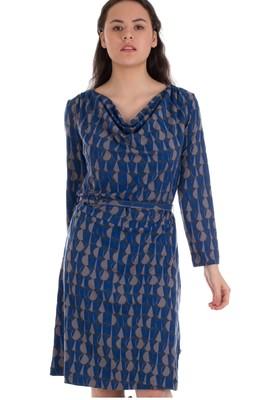 Froy & Dind jurk milena blauw