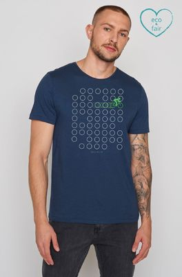 Greenbomb t shirt  bike rings spice blauw