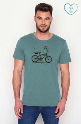 Greenbomb t shirt bike banana blauw