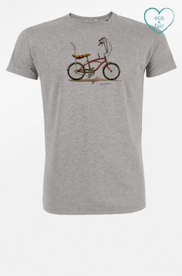 Greenbomb t shirt bike banana grijs