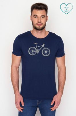 Greenbomb t shirt bike cross blauw