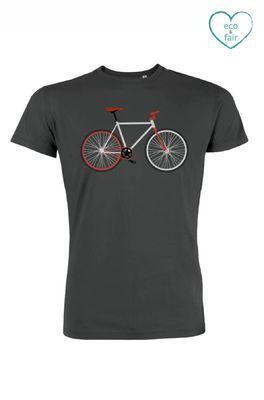 Greenbomb t shirt bike easy antraciet
