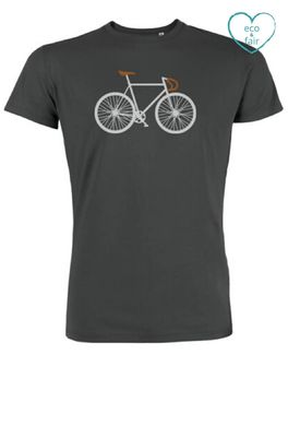 Greenbomb t shirt bike two antraciet