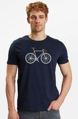 Greenbomb t shirt bike two blauw