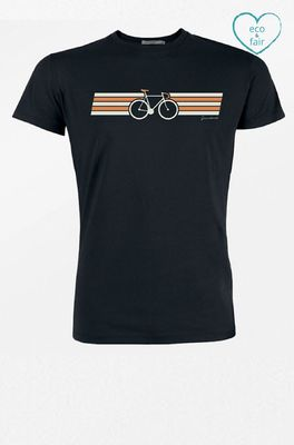 Greenbomb t shirt bike wings zwart