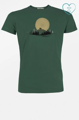 Greenbomb t shirt nature caravan groen