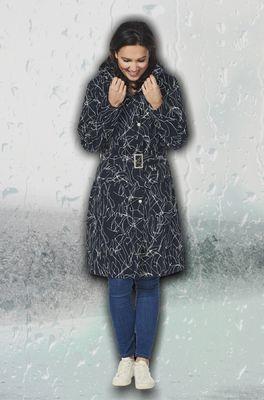 Happy Rainy Days jas berbel zwart wit