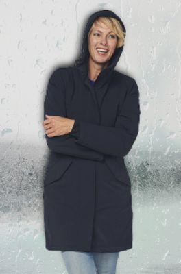 Happy Rainy Days jas coat padded orlando blauw