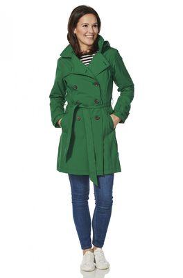 Happy Rainy Days jas gayle trenchcoat groen