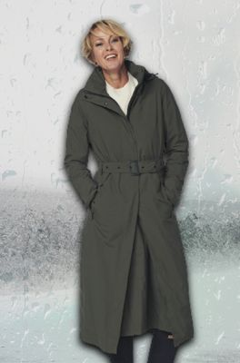 Happy Rainy Days jas montreal long rain coat olijf