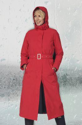 Happy Rainy Days jas montreal long rain coat rood