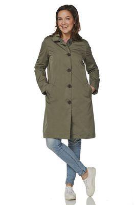 Happy Rainy Days jas osaka soft touch coat olijf